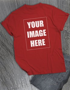 gifts: Personalised Own Image Red T Shirt!