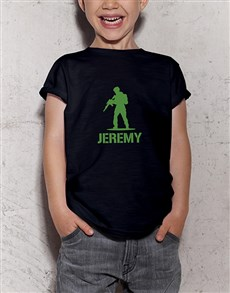 gifts: Personalised Toy Soldier Kids T Shirt!