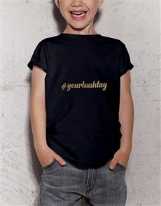 gifts: Personalised Hastag Kids T Shirt!