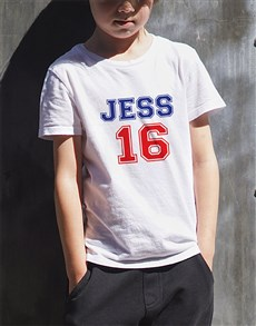 gifts: Personalised Number Sixteen Kids T Shirt!