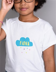gifts: Personalised Cloudy Day Kids T Shirt!