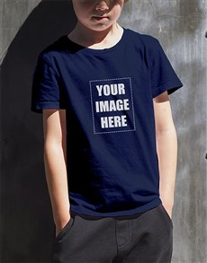 gifts: Personalised Navy Kids T Shirt!