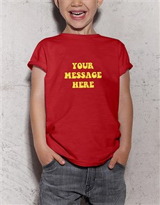 gifts: Personalised Retro Kids Red T Shirt!