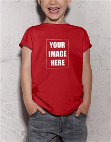 gifts: Personalised Red Kids T Shirt!