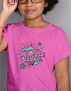 gifts: Personalised Glam Princess Kids T Shirt!