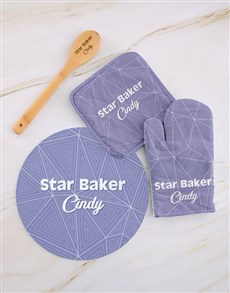 gifts: Personalised Star Baker Kitchen Set !