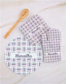 gifts: Personalised Geometric Kitchen Set!