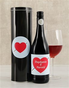 gifts: Personalised Cupid Wine Tin!