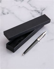 gifts: Personalised Parker Jotter Black Pen!