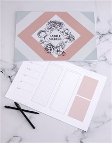 gifts: Personalised Geo Floral Desk Pad!