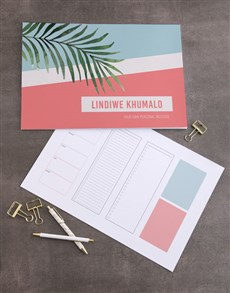 gifts: Personalised Chic Tropical Desk Pad!
