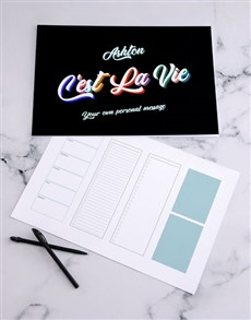 gifts: Personalised Cest La Vie Desk Pad!