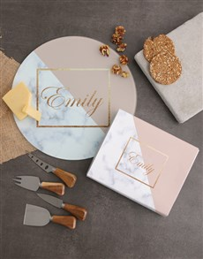 gifts: Personalised Marble Cheese Knives!