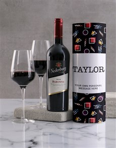 gifts: Personalised Retro Playful Wine Tube!