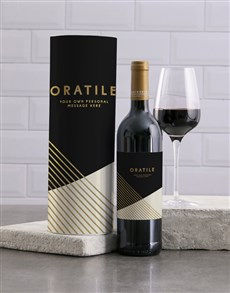 gifts: Personalised Sophisticated Wine And Tube Gift!