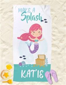 gifts: Personalised Mermaid Beach Towel!