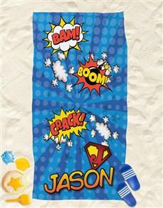 gifts: Personalised Super Kid Beach Towel!