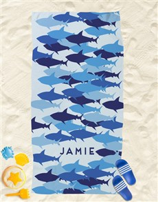 gifts: Personalised Sharks Beach Towel!