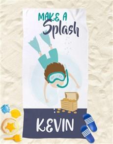 gifts: Personalised Splash Beach Towel!