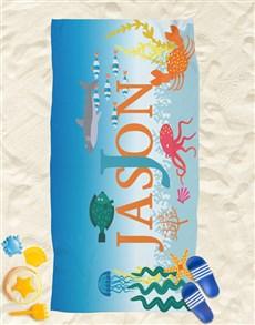 gifts: Personalised Underwater Fun Beach Towel!