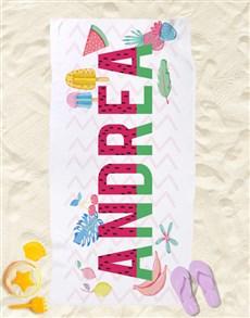 gifts: Personalised Fruity Beach Towel!