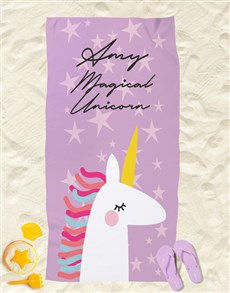gifts: Personalised Magical Beach Towel!