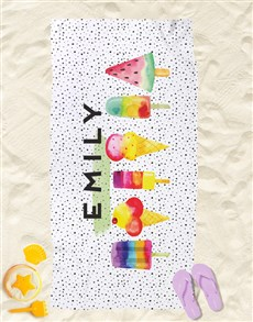 gifts: Personalised Ice Cream Beach Towel!