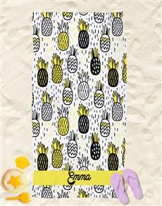 gifts: Personalised Pineapple Beach Towel!