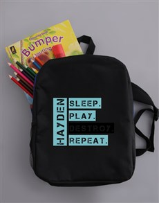 gifts: Personalised Destroy Backpack!