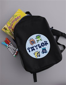gifts: Personalised Little Monster Backpack!