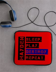 gifts: Personalised Destroy Tablet Cover!