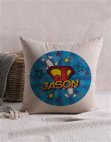gifts: Personalised Super Kid Scatter Cushion!