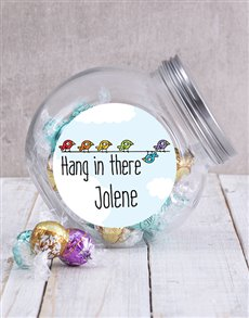 gifts: Personalised Hang In There Candy Jar!