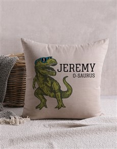 gifts: Personalised T Rex Scatter Cushion!