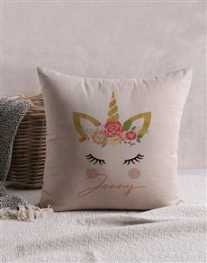gifts: Personalised Unicorn Scatter Cushion!