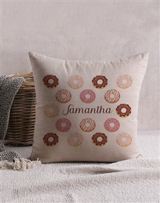 gifts: Personalised Doughnut Scatter Cushion!
