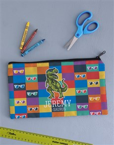 gifts: Personalised Trex Pencil Bag!