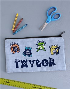 gifts: Personalised Monster Pencil Bag !