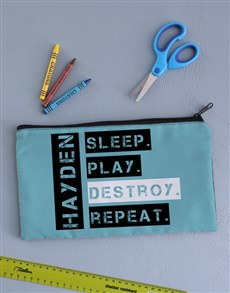 gifts: Personalised Destroy Pencil Bag!