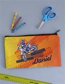 gifts: Personalised Motor Pencil Bag!