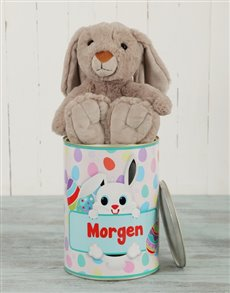 gifts: Personalised Blue Easter Bunny Tin!
