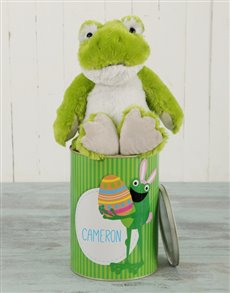 gifts: Personalised Green Frog Easter Tin!