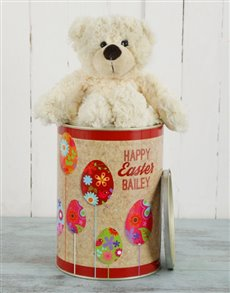 gifts: Personalised Easter Egg Teddy Tin!