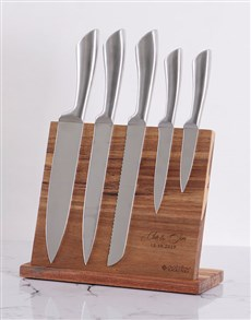 gifts: Personalised Couples Wooden Knife Set !