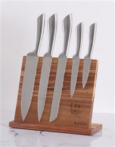 gifts: Personalised Initial Wooden Knife Set!