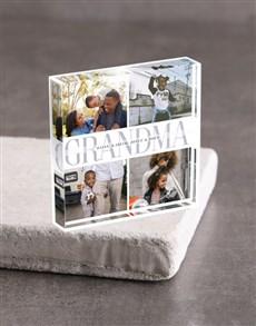 gifts: Personalised Grandma Acrylic Block!