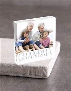 gifts: Personalised Grandma Photo Acrylic Block!