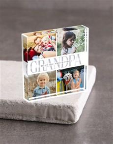 gifts: Personalised Grandpa Acrylic Block!