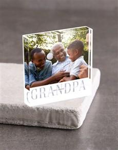 gifts: Personalised Grandpa Photo Acrylic Block!
