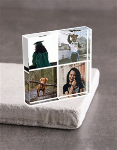 gifts: Personalised Four Photo Acrylic Block!